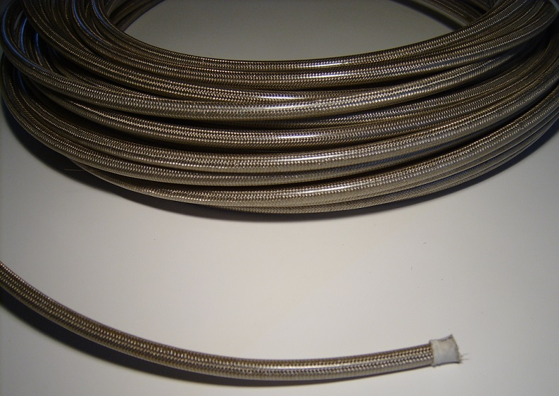 3AN Braided Brake Hose - Clear PVC cover