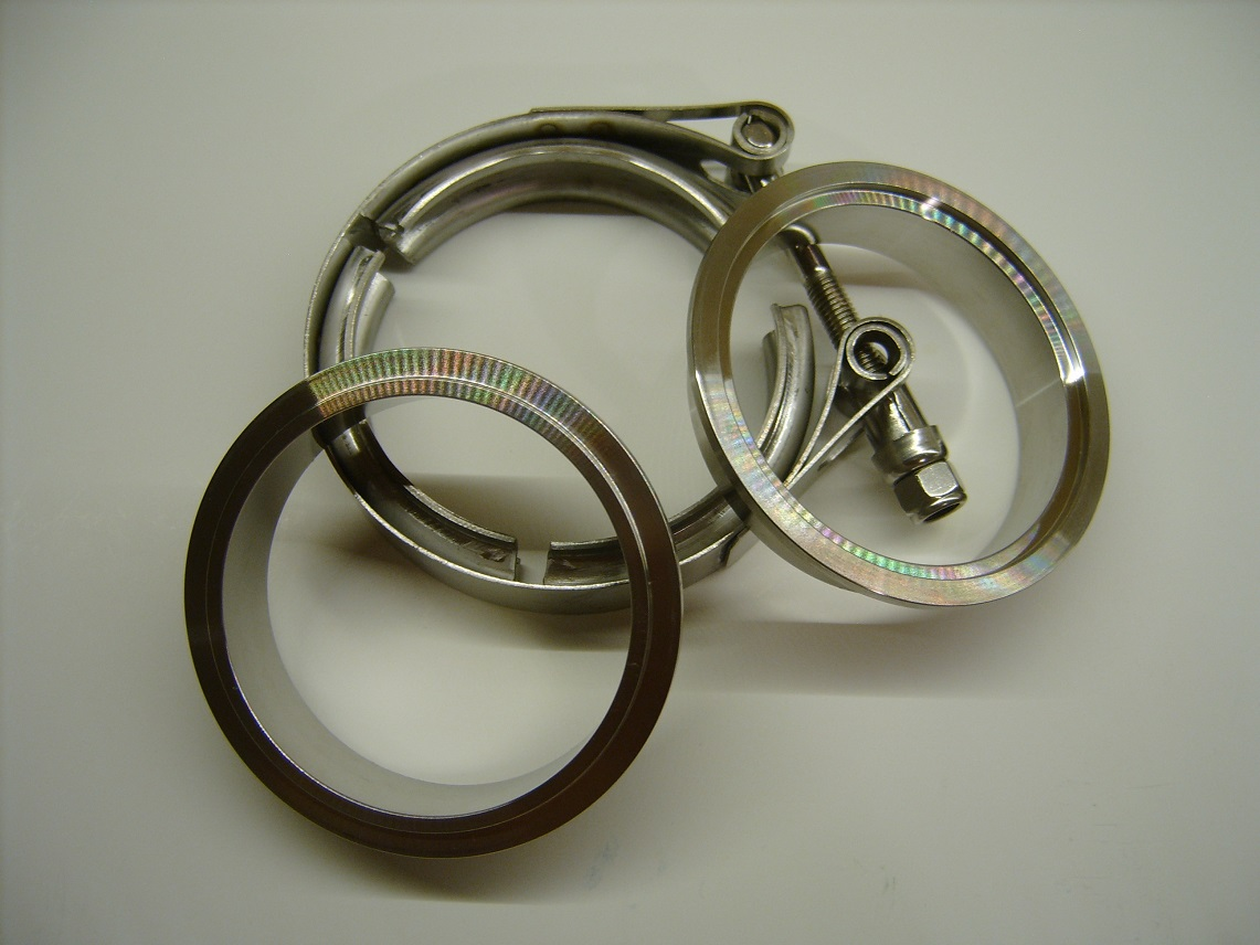 "Stainless Steel 1.75"" Male+Female V-Band Clamp"