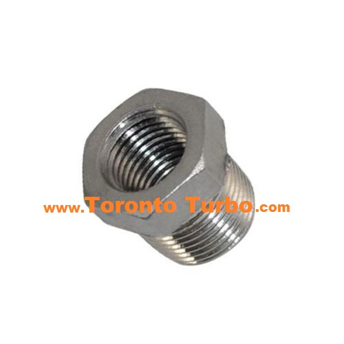 "1/2"" NPT to 3/8"" NPT Reducer Bushing Stainless Steel"