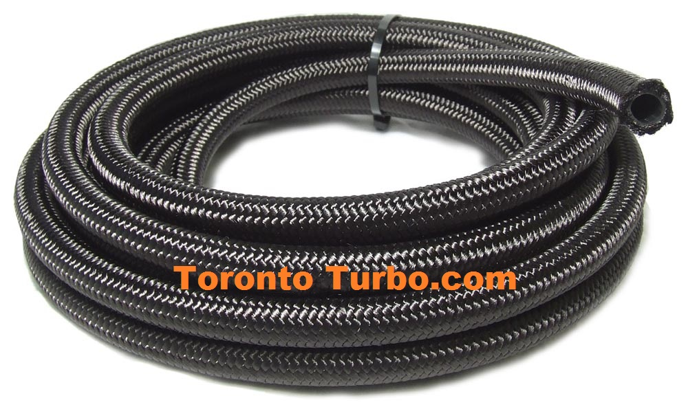4AN Premium Black Nylon Braided Hose - sold by the Foot