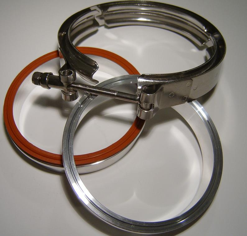 "Aluminum 4"" V-Band Clamp"