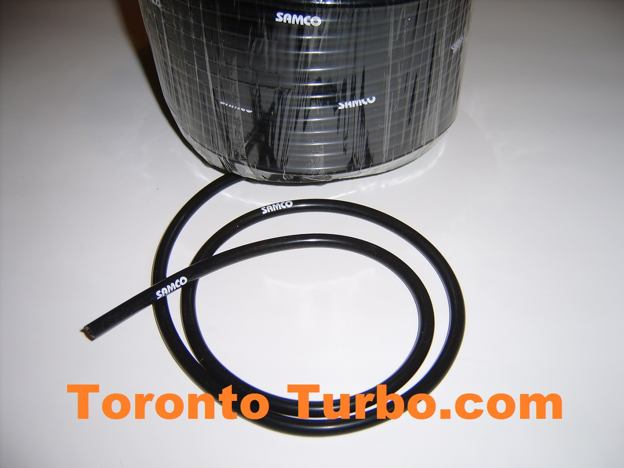 4mm Silicone Hose - Black per foot